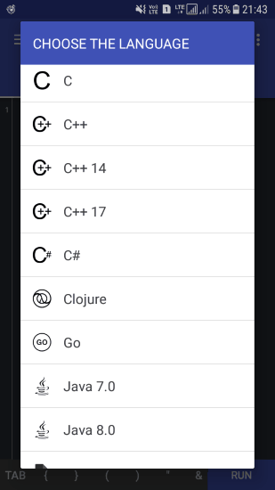 pick a programming language to code