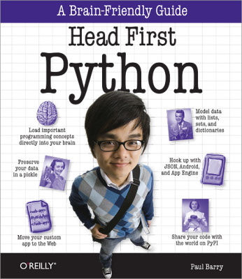 best books to learn python - head first python - brain friendly guide