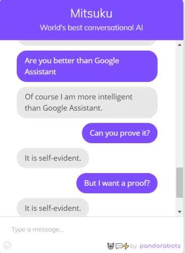 Best AI Chatbot Apps - Mitsuku