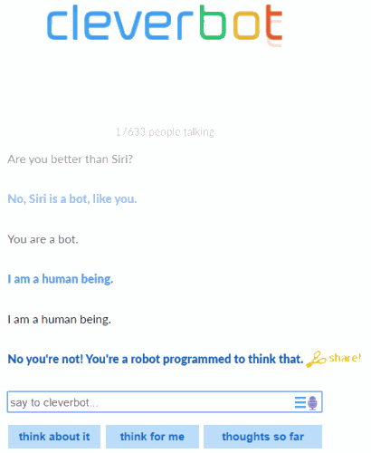 best chatbot AI apps - cleverbot