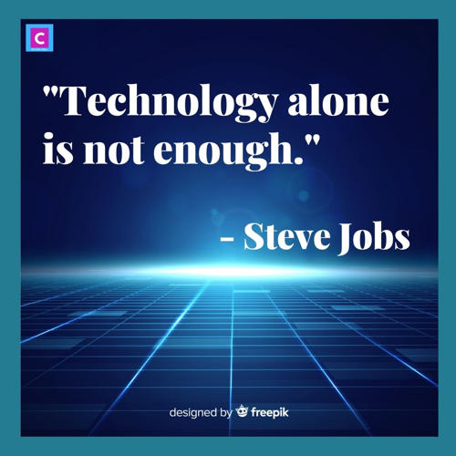 best quotes on technology - technology alone is not enough