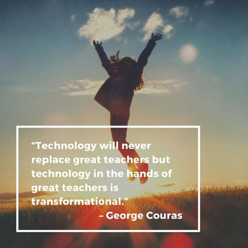 best technology quotes - Technology will never replace great teachers