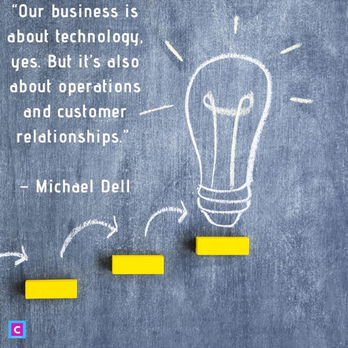 best technology quotes - our business is about technology