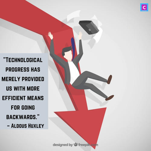 best technology quotes - technological progress has merely provided us with more efficient means