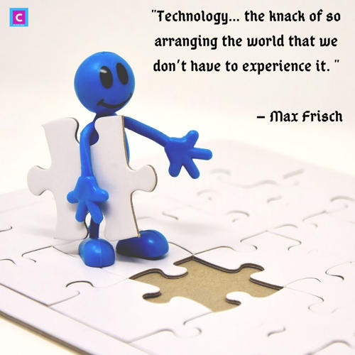 best technology quotes - technology the knack of so arranging the world
