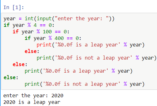 python check leap year