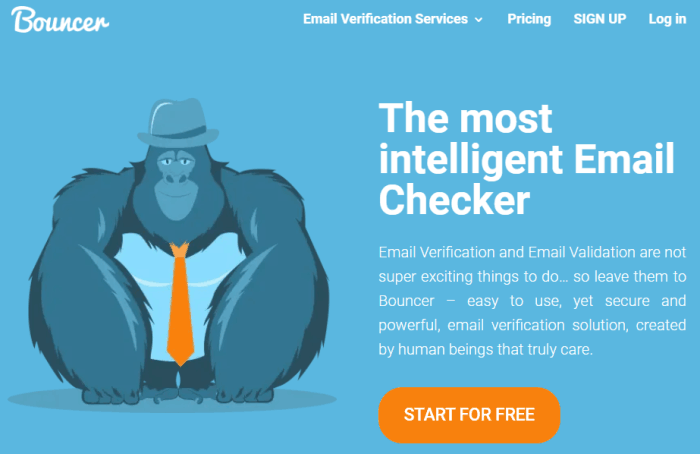 freemium email verification service - bouncer