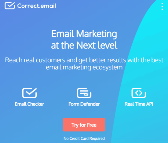 correct email - email list cleaning