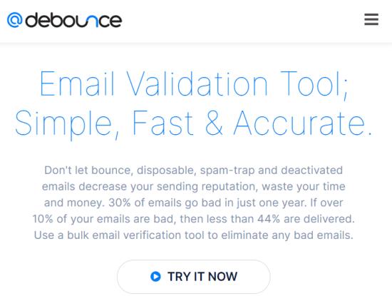 debounce - bulk email verification service