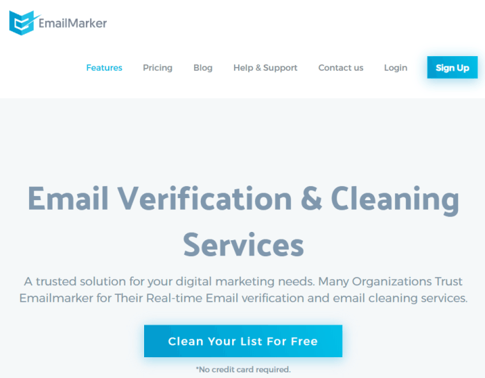 email cleaning service - emailmarker