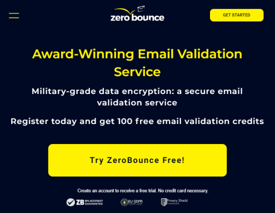 email validation service - zerobounce
