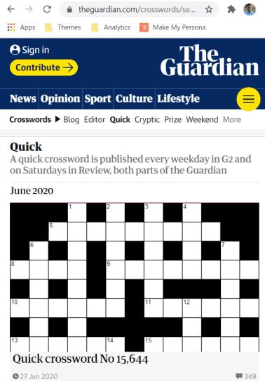 copy guardian crossword url