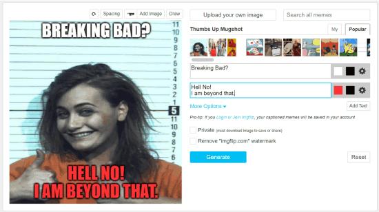 generating mugshot meme