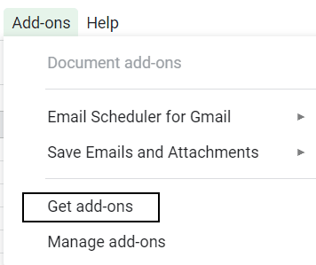 install google sheets addons