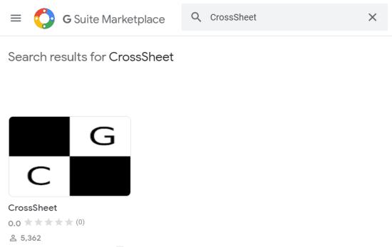 search crosssheet add-on