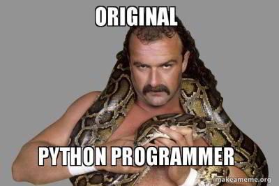funny python joke 29 - original programmer