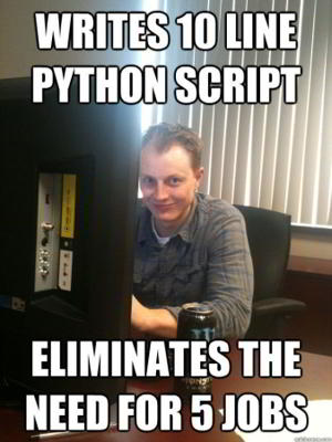 funny python meme 9 - write 10 lines of code