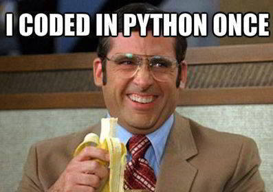 python funny meme 19 - I once coded in python
