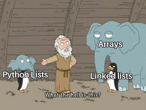 python funny meme 6 - lists