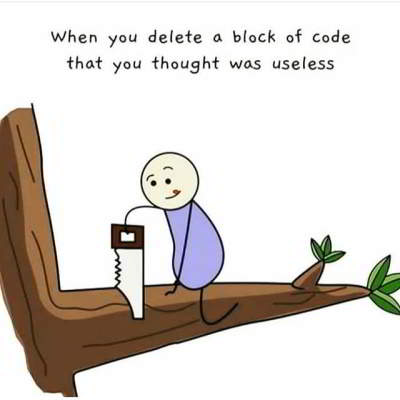 python jokes delete block of code