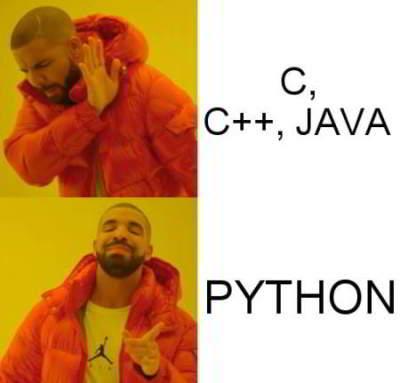 python meme 21 - drake likes python