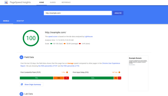 pagespeed insights - free SEO tools