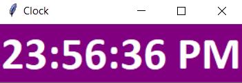 digital clock in python