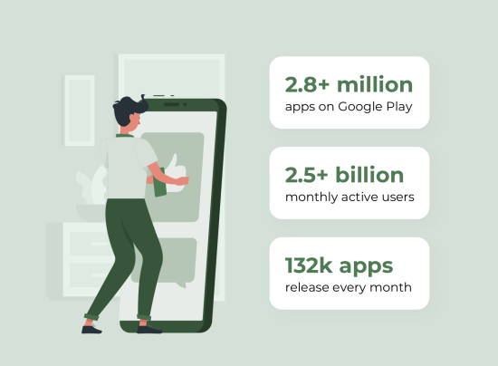 android app stats