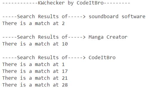 keyword rank tracking results