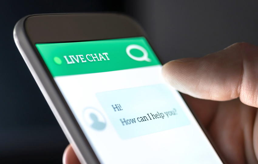 live chat feature in app