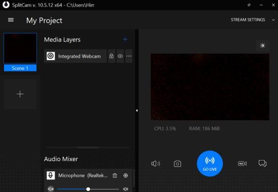 splitcam - free webcam software