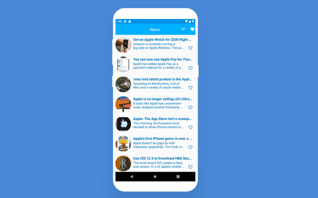 news app developed - android app architecture