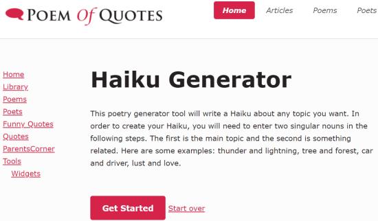 poem of quotes - online haiku generator